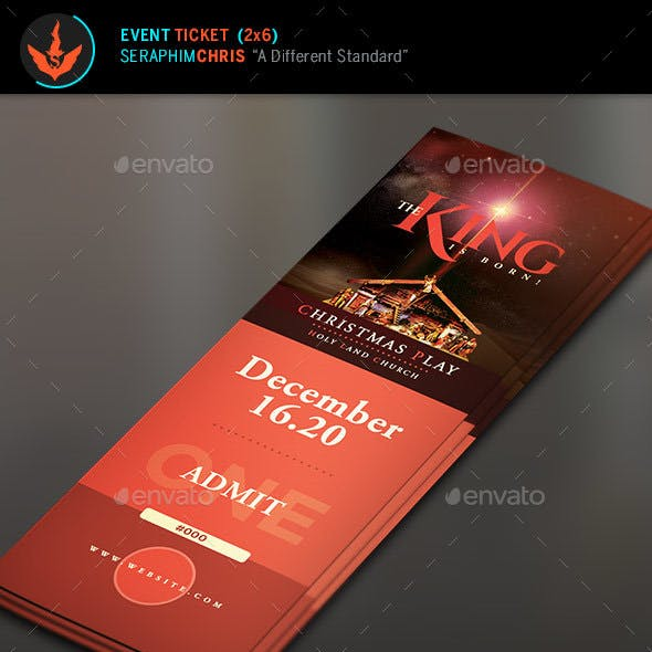 the king is born christmas ticket template by seraphimchris