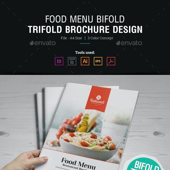 Food Menu Bifold Trifold Brochure By Miyaji75 GraphicRiver