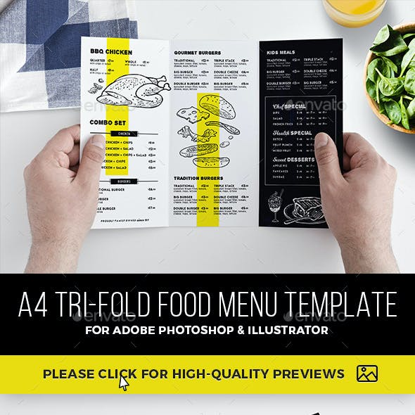 tri fold menu graphics designs templates from graphicriver