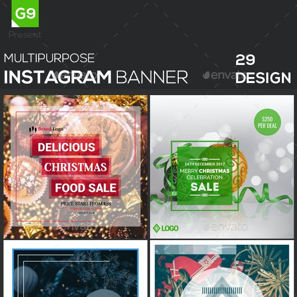 Christmas Instagram Web Elements from GraphicRiver