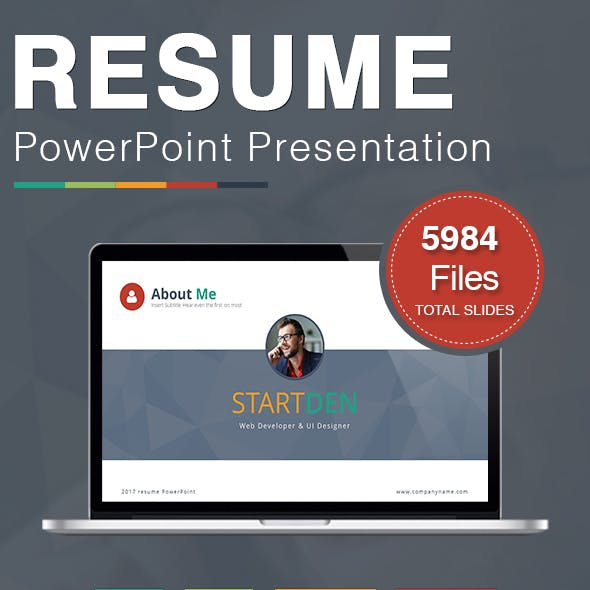 resume portfolio presentation templates from graphicriver