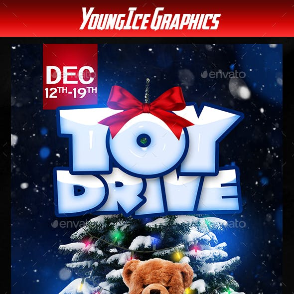 Toy Drive Flyer Graphics Designs Templates From Graphicriver