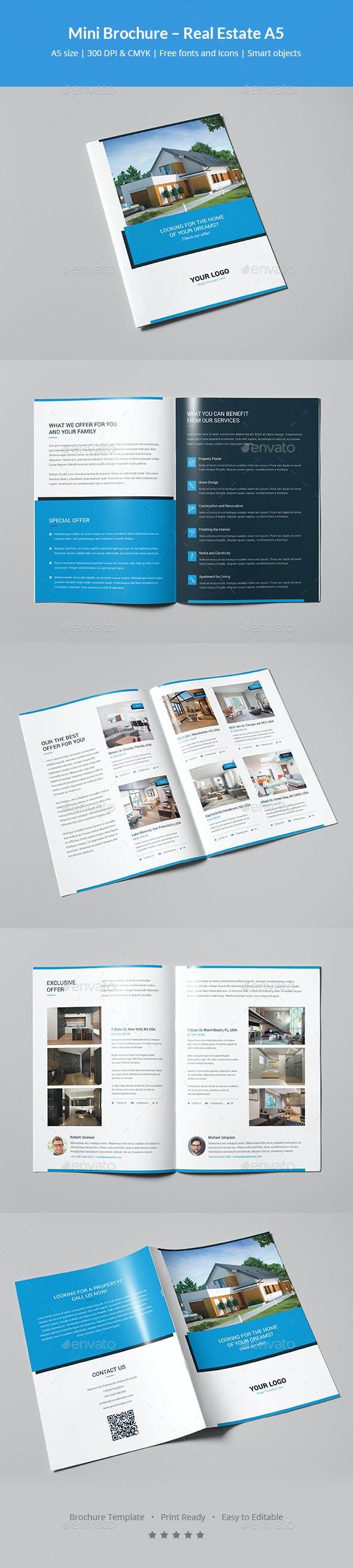 mini brochure real estate a5 by artbart graphicriver