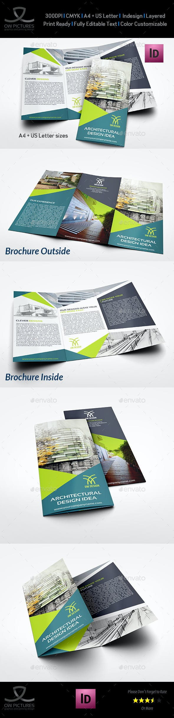 architectural design tri fold brochure template brochures print templates