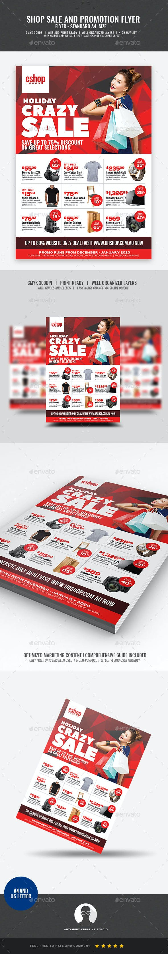product sale and promotional sales flyer by artchery graphicriver