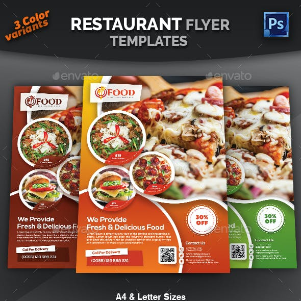 resize menu flyers restaurant flyer templates from graphicriver