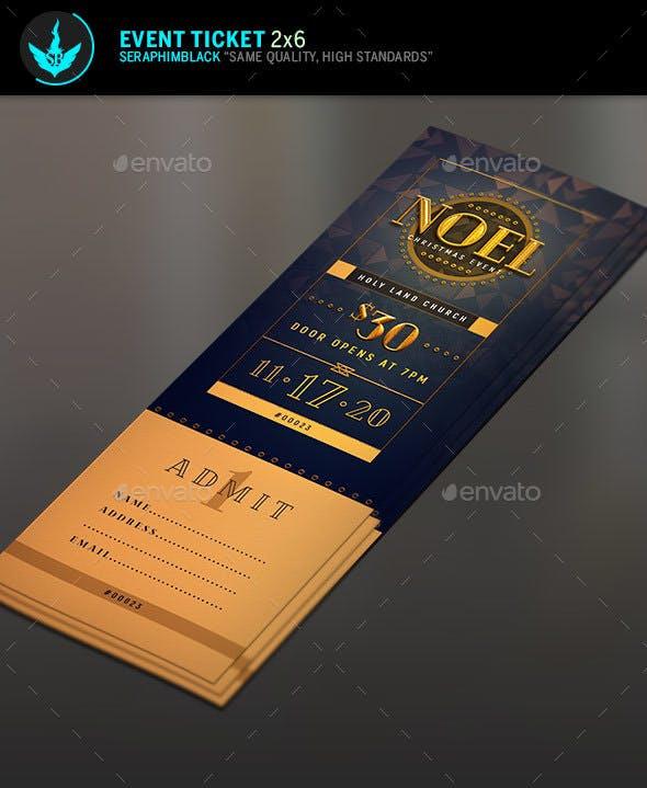Noel Christmas Gala Ticket Template