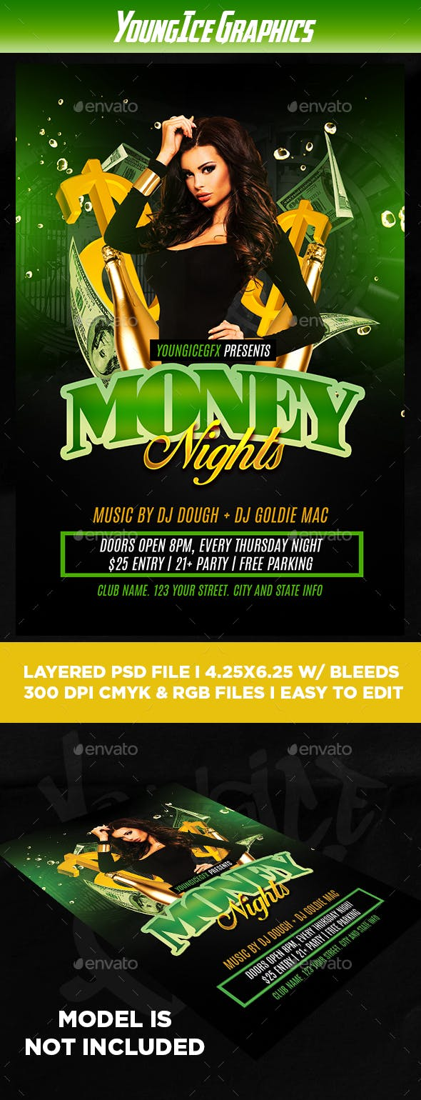 money party flyer template by youngicegfx graphicriver
