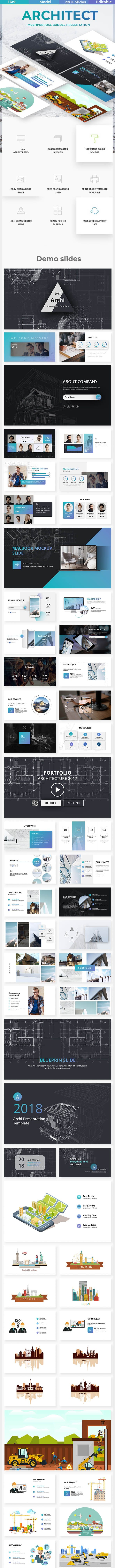 archi premium powerpoint template by este studio graphicriver