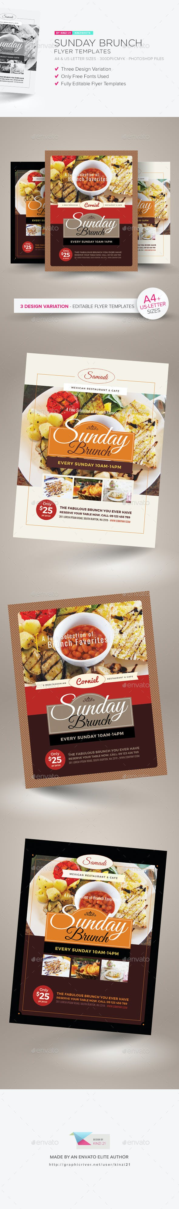 sunday brunch flyer templates by kinzishots graphicriver