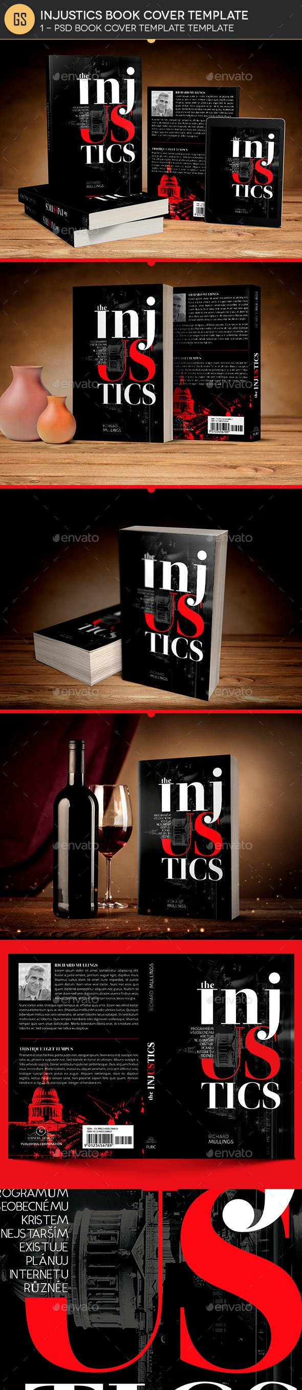 injustics book cover photoshop template by godserv graphicriver