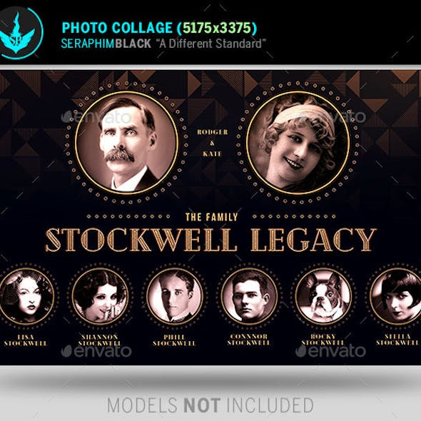 art deco funeral photo collage template by seraphimblack graphicriver