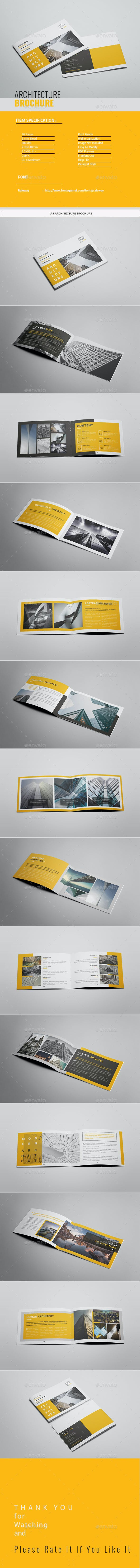 a5 architecture brochure by tripleef graphicriver
