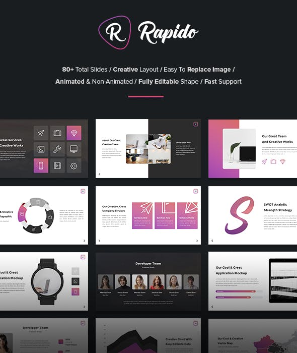 Rapido Creative Powerpoint Template By Suavedigital Graphicriver
