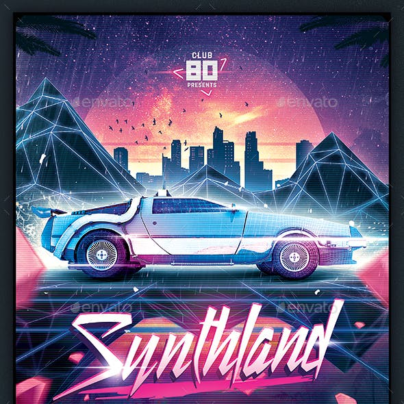 vaporwave graphics designs templates from graphicriver