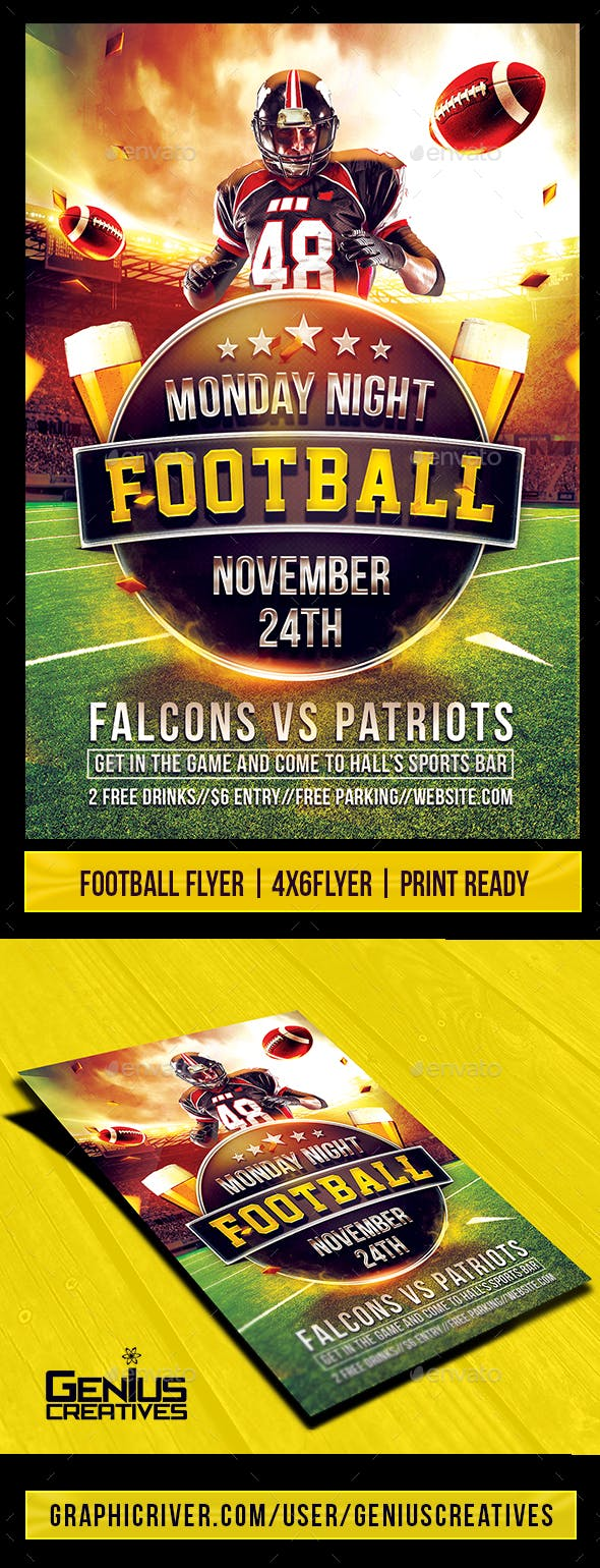 super football flyer template by geniuscreatives graphicriver