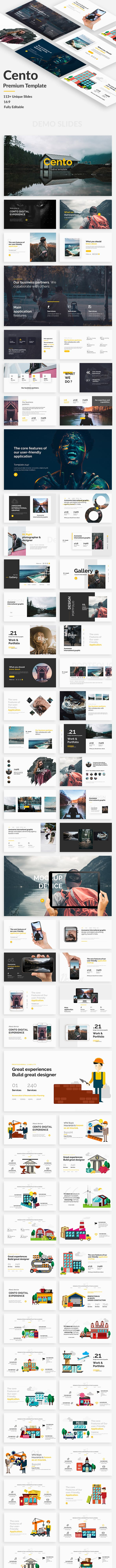 cento design premium powerpoint template by bypaintdesign graphicriver