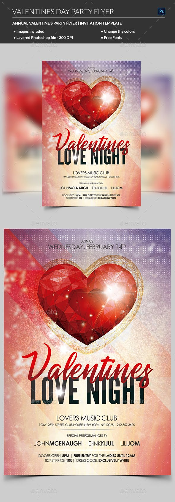 Valentines Day Flyer By Madridnyc Graphicriver