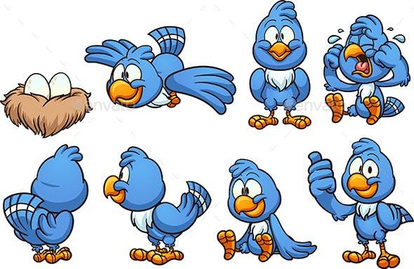 Blue Bird By Memoangeles Graphicriver