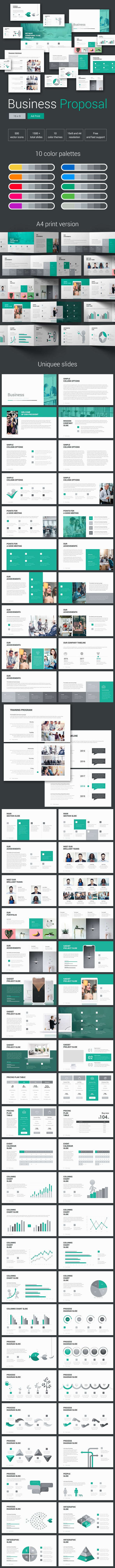 business proposal pitch powerpoint template by malis graphicriver