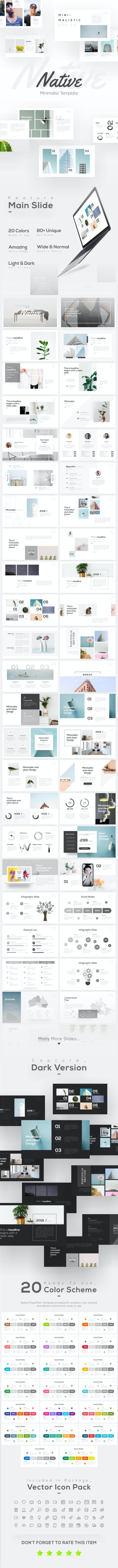 native minimalist powerpoint template by brandearth graphicriver