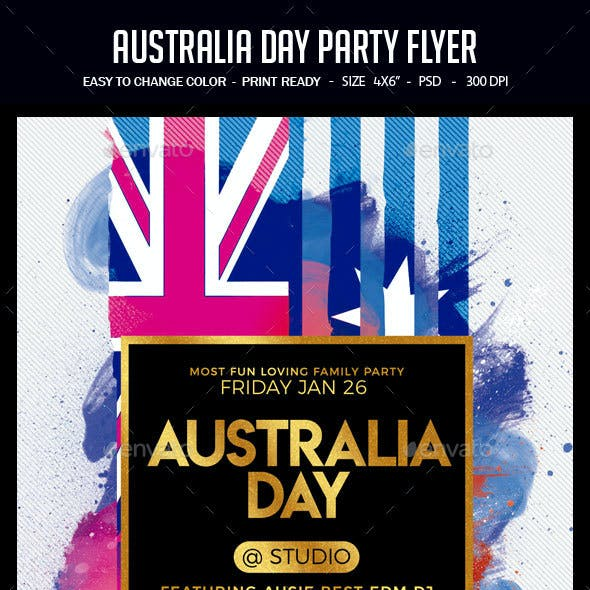 australia day poster graphics designs templates