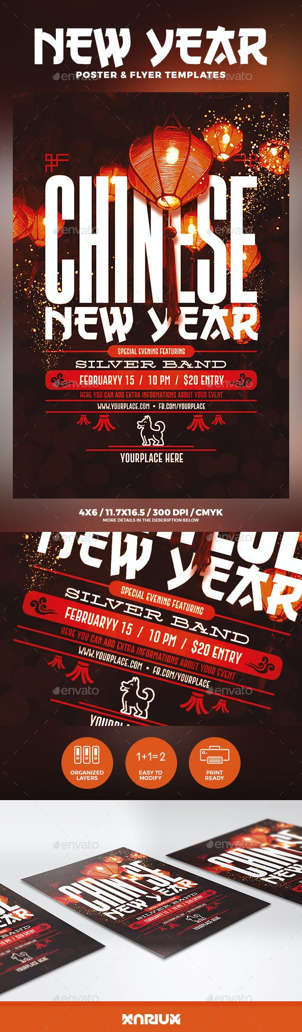 chinese new year flyer poster holidays events
