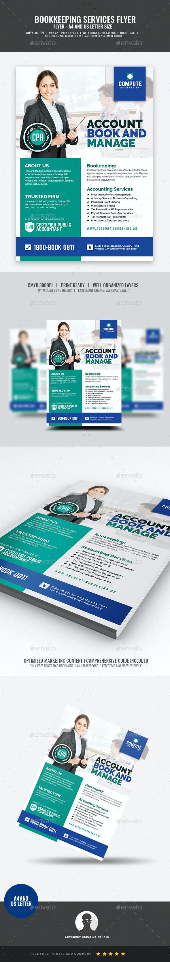 accounting and bookkeeping services flyer corporate flyers