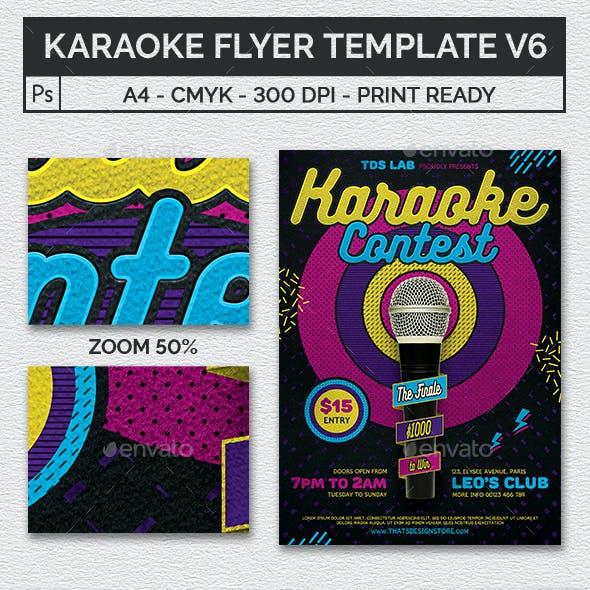 karaoke flyer template v6 by lou606 graphicriver