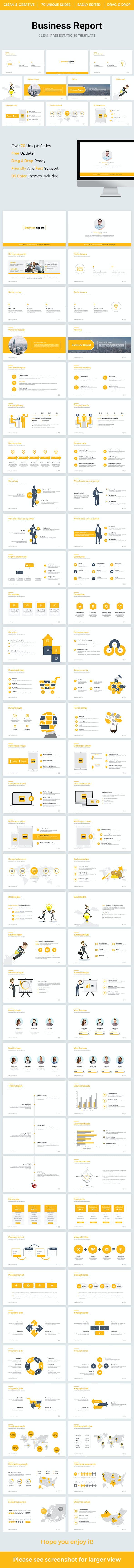 business report powerpoint template 2018 by light slides graphicriver