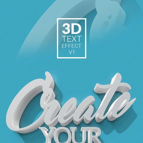 3D Text Effect V1