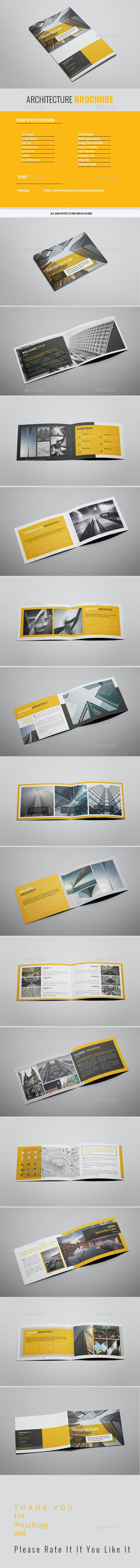 a5 yellow architecture brochure by tripleef graphicriver