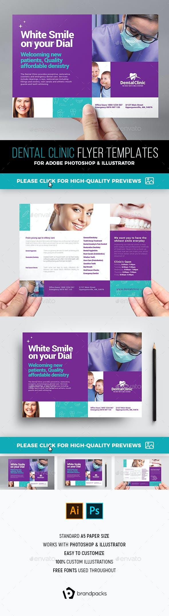 dental clinic flyer template by brandpacks graphicriver