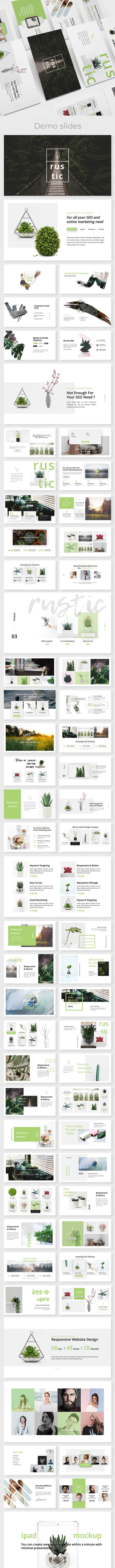 rustic minimal powerpoint template by este studio graphicriver