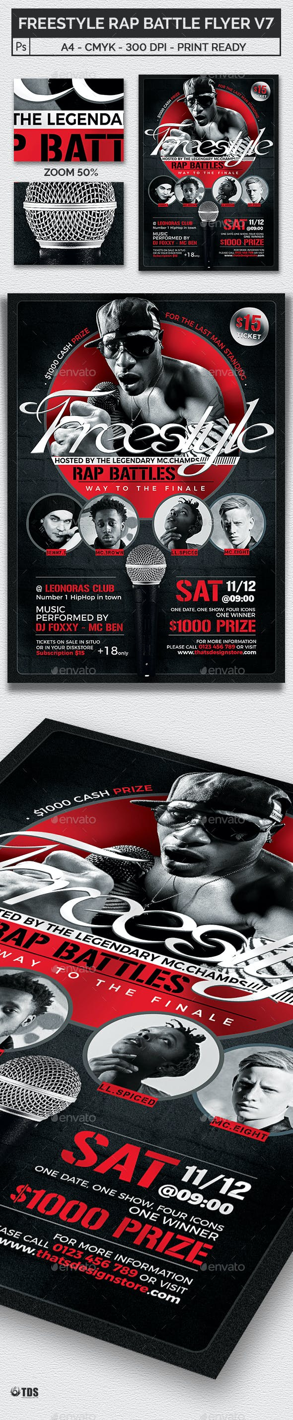 freestyle rap battle flyer template v7 by lou606 graphicriver