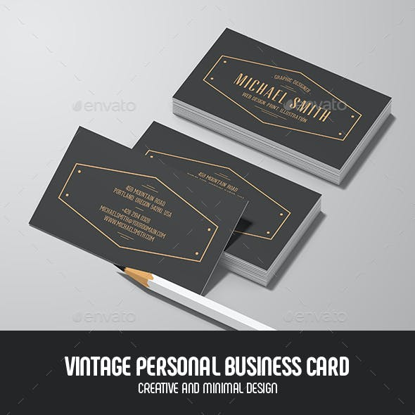 Black Vintage Business Card Templates Designs Page 2
