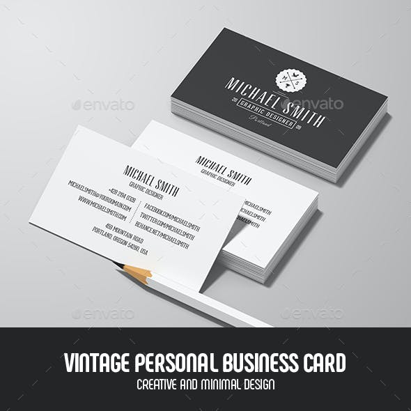 Black vintage business card templates designs page 3 vintage personal business card friedricerecipe Choice Image
