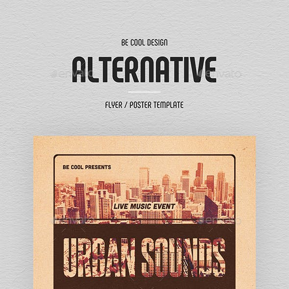 alternative and vintage concert flyer templates page 5