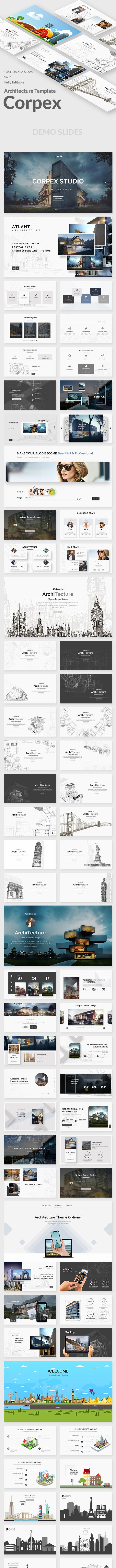 corpex architecture and construction powerpoint template by