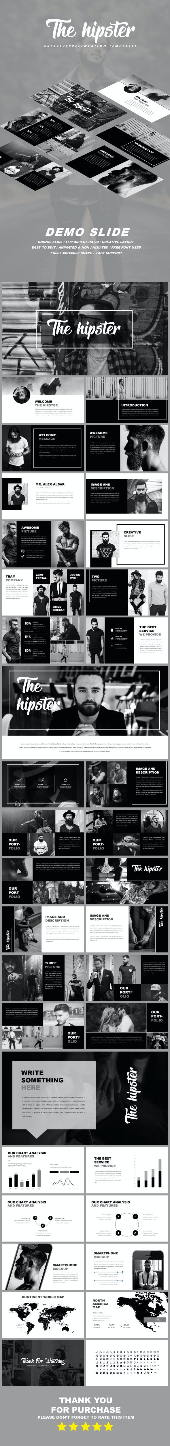 the hipster creative powerpoint templates by creatortemplate