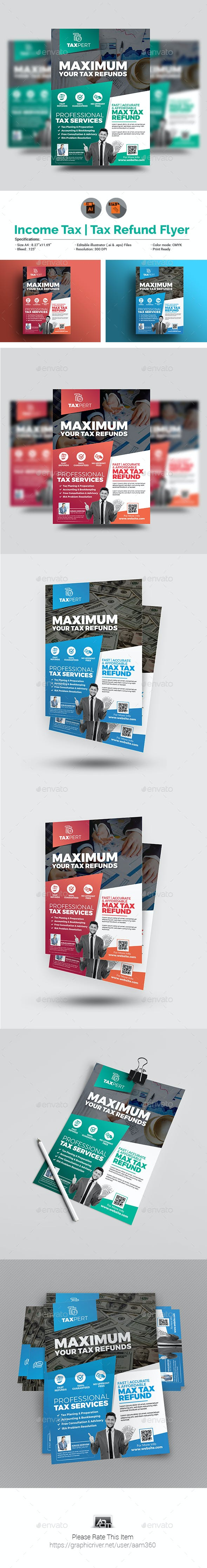 Income Tax Refund Flyer Template
