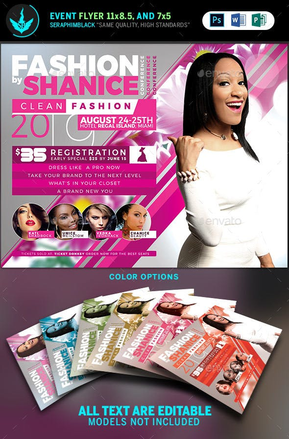 fashion conference flyer template 2 by seraphimblack graphicriver