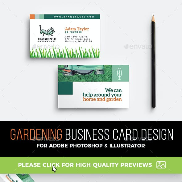 Industry specific business card templates from graphicriver gardening business card template reheart Image collections