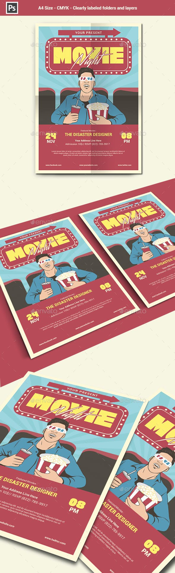 Movie Night Flyer Template By Yudhasbs Graphicriver