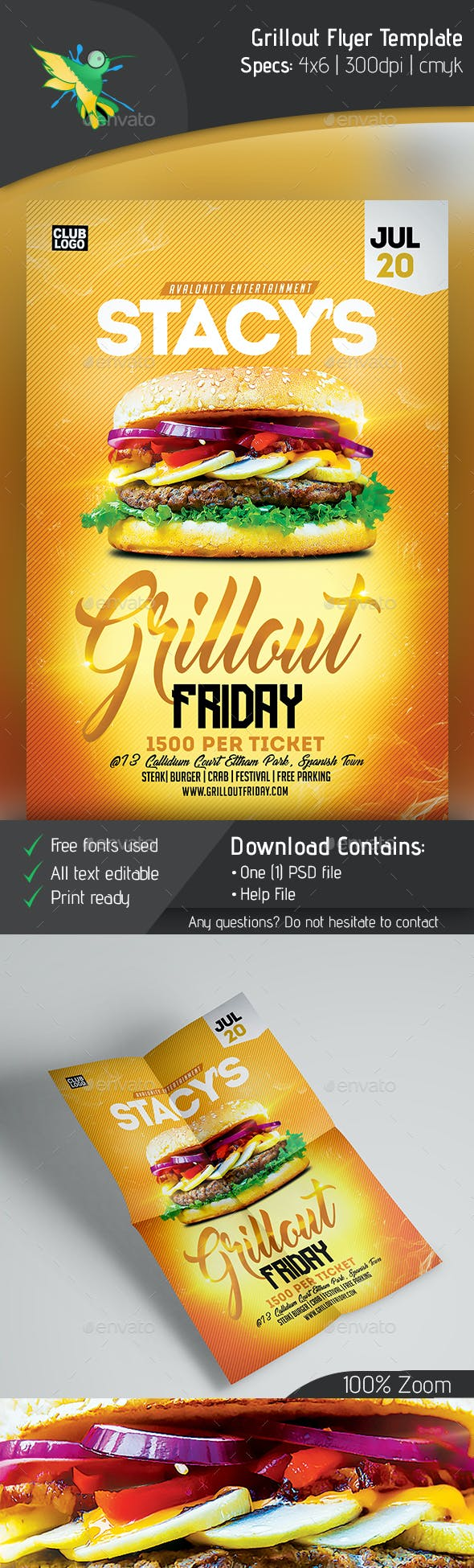 cookout flyer template by avalonity graphicriver