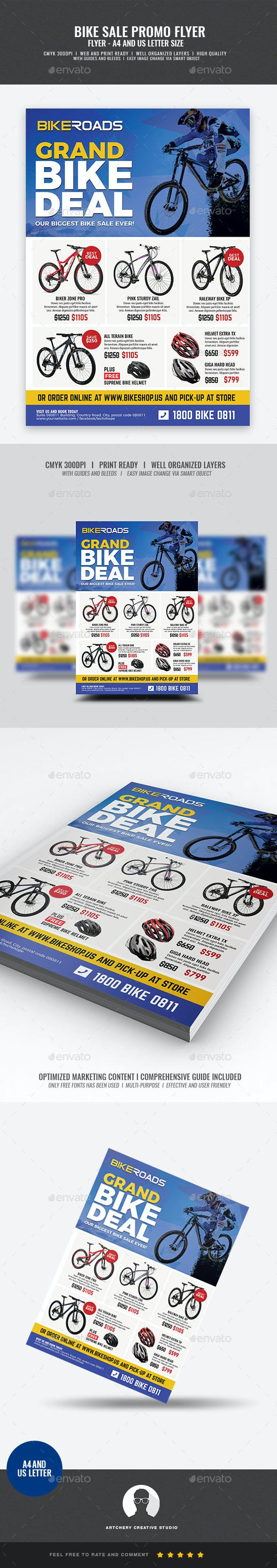 bicycle sale promo flyer by artchery graphicriver