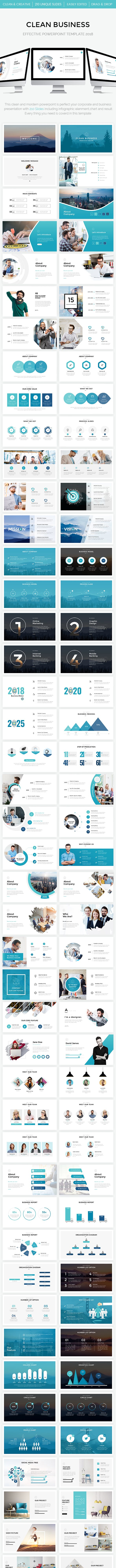 clean business powerpoint template 2018 by williamhenry989