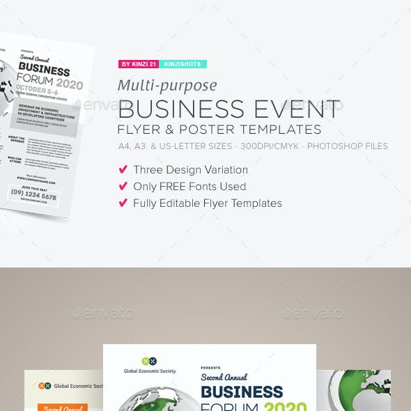 business event flyer graphics designs templates