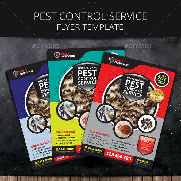 pest control service flyer