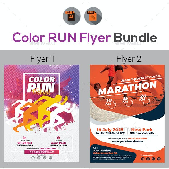 Concert sporting event flyer templates from graphicriver color run event flyers bundle maxwellsz
